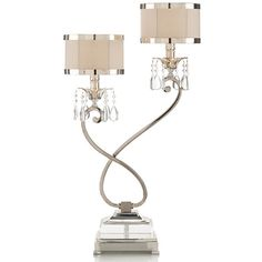 Regina andrew crystal urn table lamp with shade home the ojays starlight hollywood regency silver crystal double table lamp right 680 liked on aloadofball Choice Image