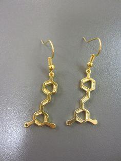 af70051d8d9 Wine Molecule Earrings - Wine Earrings - Resveratrol Molecule Earrings -  Chemistry Earrings - Science Jewelry - Molecular Earrings