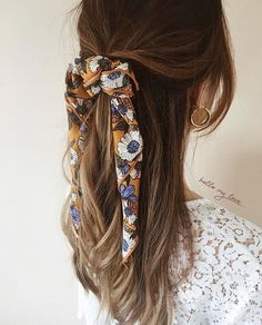 something special ♡ - - Flechtfrisuren - braided Hair - Haare - Braids With Curls, Braids For Short Hair, Hair Scarf Styles, Curly Hair Styles, Hair Band Styles, Hair Bands, Scarf Hairstyles, Braided Hairstyles, Hairstyles 2018