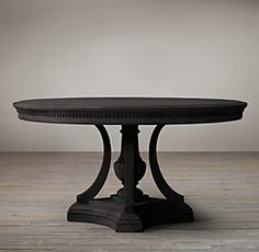 Round dining tables restoration hardware mesas for Oficina 9646