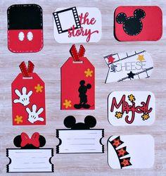 Handmade Mickey and Minnie Die Cut by BumpOfKnowledge on Etsy Disney Diy, Deco Disney, Disney Cards, Disney Theme, Disney Scrapbook Pages, Baby Scrapbook, Travel Scrapbook, Scrapbooking Layouts, Scrapbook Cards