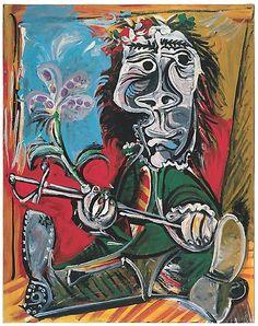 'Portait de l'homme à l'épée et à la fleur' (1969) by Pablo Picasso