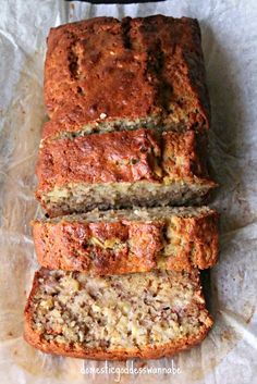 Chia Rolled Oat Banana Bread - Used 4 small bananas and it turned out great! Super moist and still holds up for the next day's breakfast. Banana Oat Bread, Oatmeal Bread, Banana Oats, Quick Bread Recipes, Oats Recipes, Banana Bread Recipes, Meatloaf With Oats, Baking Buns, Kneading Dough