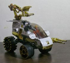 "The Armed Force vehicle, piloted by Lightning League leader Jayce from Mattel's ""Wheeled Warriors"" toy line"