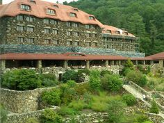 Grove Park Inn, Asheville NC. Was lucky to have a business convention here. It is breathtaking inside and out and lots to do.