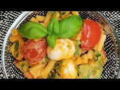Włoska sałatka z makaronem, idealna do grila. - YouTube Pesto, Grilling, Eggs, Breakfast, Youtube, Food, Morning Coffee, Crickets, Essen