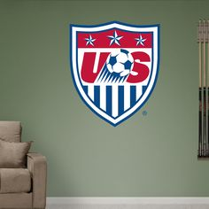 US Soccer Crest | Fathead Wall Decal