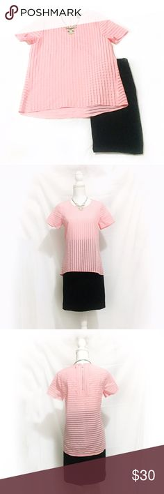 J. Crew | Pink Striped Shadow Blouse | Size: 4P J. Crew | Pink Striped Shadow Blouse | Size: 4P | Great Condition | Runs a Little Big | No Wear or Damage | Pet/Smoke Free Home | Cotton Blend | See Photos for Measurements J. Crew Tops Blouses