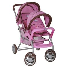 Kids GRACO Baby TWIN ~DOLL STROLLER Double Side-by Side 4 American ...