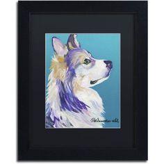 Trademark Fine Art Ben Canvas Art by Pat Saunders-White, Black Matte, Black Frame, Size: 16 x 20, Purple