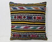 pastel kilim pillow 24x24 throw pillow set art pillow case oversize floor pillow kilim pillow set rustic pillow cover geometric pillow 27508