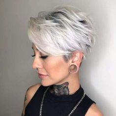 Latest Trend Pixie and Bob Short Hairstyles 2019 - Flattering Short Hairstyles T. - - Latest Trend Pixie and Bob Short Hairstyles 2019 - Flattering Short Hairstyles That Fit You Perfectly Short hairstyles are also trendy this year. Short Pixie Haircuts, Short Hairstyles For Women, Bob Haircuts, Haircut Short, Girl Haircuts, Pixie Haircut Styles, Haircut Bob, Short Hairstyles For Thick Hair, Layered Haircuts
