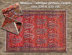 Malayer - hand knotted antique woolen carpet from Persia. Size : 220 x 133 cm Persian Carpet, Budapest, Knots, Bohemian Rug, Oriental, Rugs, Antiques, Hungary, Gallery