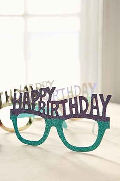 Happy Birthday Party Glasses Set - Urban Outfitters