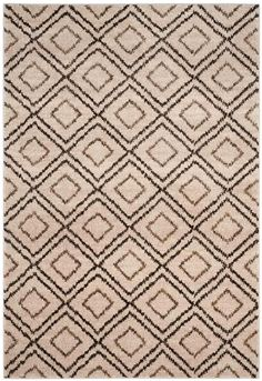Safavieh Tunisia X Rectangle Synthetic Power Loomed Contemporary Creme / Brown Rugs Area Rugs Cost Of Carpet, Diy Carpet, Modern Carpet, Hall Carpet, Brown Carpet, Contemporary Area Rugs, Patterned Carpet, Bedroom Carpet, Carpet Colors