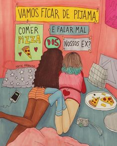 Desenhos tumblr ⭐️ Best Friend Drawings, Bff Drawings, Girls Girls Girls, Top Girls, Calligraphy Drawing, Bff Pictures, Tumblr Wallpaper, Best Friends Forever, Tumblr Girls