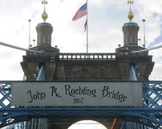 Walk across the John Roebling Bridge - yes, it has a pedestrian walkway. Check it out when you click on the pic.
