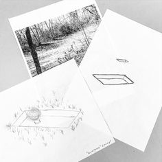 concept sketches from when i started planning convergence #behindthescenes #inthestudio #artiststudio #sketch #earthart #landart #installation #conceptual #bdstudios Link to the video is in my profile.