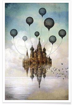 Journey To The East als Premium Poster von Catrin Welz-Stein | JUNIQE