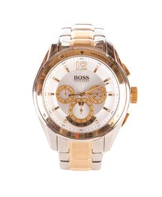 Hugo Boss Mens Chronograph 1512514 Watch in Goldtone Silver