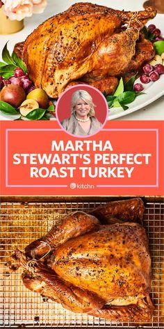 Best Roasted Turkey, Baked Turkey, Best Turkey Brine, Roasting A Brined Turkey, Roasted Chicken, Whole Turkey Recipes, Roast Turkey Recipes, Sausage Recipes, Martha Stewart Turkey Brine