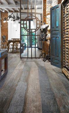 Porcelain tile with the real weathered wood look by Blendart - the new collection by Ceramica Sant'Agostino
