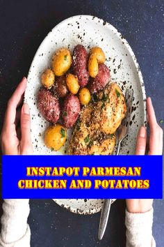 InstaPot Parmesan Chicken and Potatoes Weeknight dinners are typically a race against the clock, luckily your on the spot pot strain cooker is here to assist. It's consolation meals at its great and maximum delicious. Meatloaf Recipes, Chili Recipes, Crockpot Recipes, Soup Recipes, Great Recipes, Cooking Recipes, Yummy Recipes, Chicken Thigh Recipes, Chicken Salad Recipes