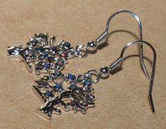 fire opal earrings gemstone silver jewelry elegant cocktail drop/dangle style F4 #DropDangle