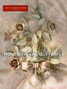 Rose Bow and Butterfly Shabby Chic wall light
