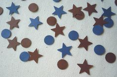 Items similar to Brown, Navy Blue Circles & Stars Confetti Count), Table Decor, Party Decor on Etsy Victorian Gentleman, Scrapbook Embellishments, For Your Party, Confetti, Circles, Special Events, Count, Navy Blue, Kids Rugs