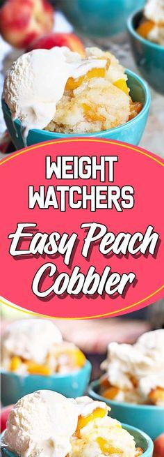 Weight Watchers Easy Peach Cobbler #dessert #copycatrecipe #easyrecipes #dessertrecipes #desserttable #appetizer