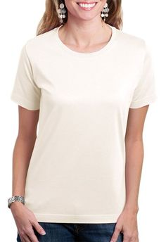 LAT 3580 Women Ringspun Scoop Neck T-Shirt at Amazon Women's Clothing store: