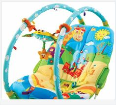 Tiny Love Gymini Bouncer, Blue/Yellow - Every Thing Baby