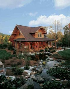 A Log Cabin in North Carolina: Perfect for Outdoor Log Home Living – rustic home interior Log Cabin Living, Log Cabin Homes, Log Cabins, Rustic Cabins, Mountain Cabins, Rustic Homes, North Carolina Cabins, Boho Glam Home, Cabins And Cottages