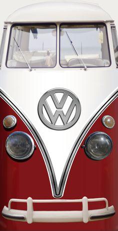Vintage VW bus refrigerator wrap