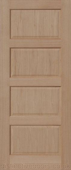 Chatsworth 1 Light Bevel Glazed Interior Oak Door Internal Oak