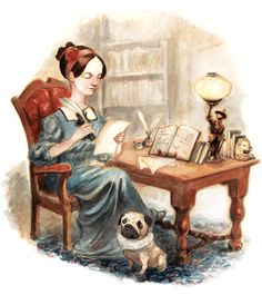 Today is Ada Lovelace Day, and to celebrate this computeering pioneer, we thought we'd ask artist Scott Brundage to illustrate Lady Ada King, Countess of Lovelace, as she works through the centurie… Ada Lovelace, Children's Book Illustration, Illustrations, Bright, History Books, Printmaking, Character Design, Geek Stuff, Old Things