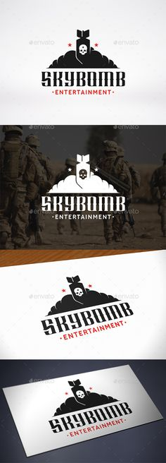 Buy Sky Bomb Logo Template by BossTwinsMusic on GraphicRiver. - Three color version: color, greyscale and single color. - The logo is resizable. - You can change text and col. Crest Logo, Logo Design, Graphic Design, Retro Vintage, Vintage Logos, Modern Logo, Letter Logo, Logo Inspiration, Logo Templates