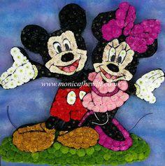 Mickey & Minnie Mouse - Bespoke Funeral Flowers and Tribute Art by Monica F Hewitt Florist Sheffield http://www.monicafhewitt.co.uk/