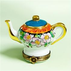 Limoges Teapot with Roses Box The Cottage Shop