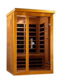 The Vienna 2 Person Infrared sauna uniquely stylish in its design, is space efficient with easy clasp assembly. This beautiful handcrafted sauna fits in any room on any surface. Maximize your benefits with 6 BioPhotonic Nano-Carbon™ far infrared heaters that utilize the newest in BioPhotonics technology. Complete with chromo therapy lighting, speakers with MP3 input and easy clasp assembly.