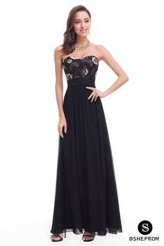 Only $71, Black Strapless Long Evening Party Dress #EP07060BK at #SheProm. SheProm is an online store with thousands of dresses, range from Prom,Formal,Black,Long Black Dresses,Long Dresses and so on. Not only selling formal dresses, more and more trendy dress styles will be updated daily to our store. With low price and high quality guaranteed, you will definitely like shopping from us.