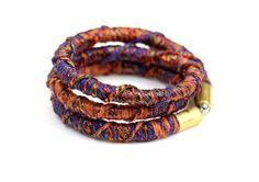 Elegant rope wrap bracelet fabric wrap bracelet fabric by MyBeata