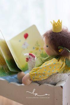 Stoffpuppe, Puppenkind, Puppenseelchen, Waldorfpuppe, waldorf doll, Penelope, nach einer Geschichte von Daniela Drescher, Lillemor & Rosenresli 2016