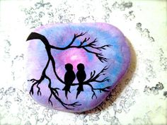 Hey, I found this really awesome Etsy listing at https://www.etsy.com/listing/229241994/painted-rock-love-birds