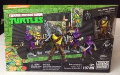Mega Bloks Teenage Mutant Ninja Turtles Baxter Mutation Lab w// Leo 73 pcs New!