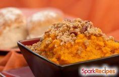 Healthy Sweet Potato Custard Recipe | via @SparkPeople #food #fall # ...