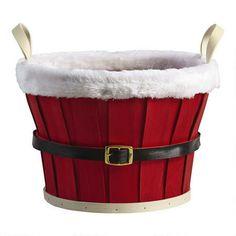Santa Belt Basket   Christmas Tree Shops andThat!