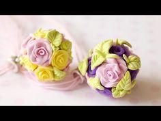 ЦВЕТОЧНЫЕ ШАРЫ из полимерной глины (мастер-класс) - Polymer clay flower balls - YouTube