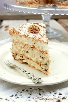 Polish Desserts, Pavlova, Vanilla Cake, Food To Make, Tea Party, Dessert Recipes, Food And Drink, Sweets, Bread